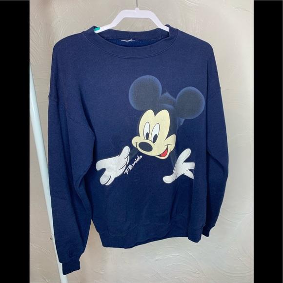 Disney Other - Vintage Disney Mickey Mouse  Navy Sweatshirt Sz. M